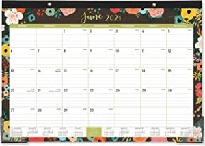 """2021 Desk Calendar - 12 Monthly Desk/Wall Calendar 2-in-1, 16.8"""" x 12"""", January - December 2021 with Corner Protectors, Ruled Blocks - Classic Floral"""
