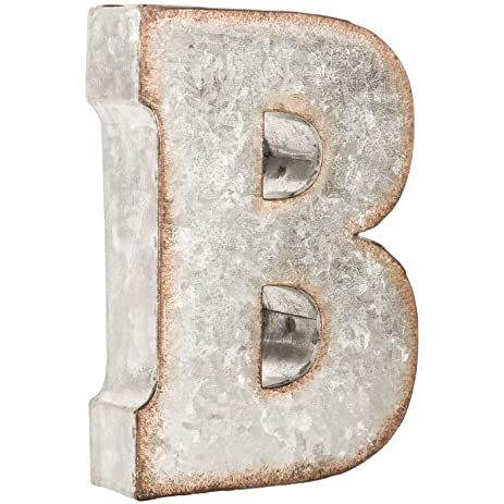 Amazon Galvanized Metal Wall Letter Block Letter B Home