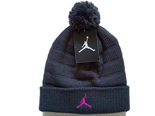 Image Unavailable. Image not available for. Color  NIKE Air Jordan Unisex  Jumpman Knit Winter Cuffed Pom Beanie Ski Cap ... dba8d94fa086