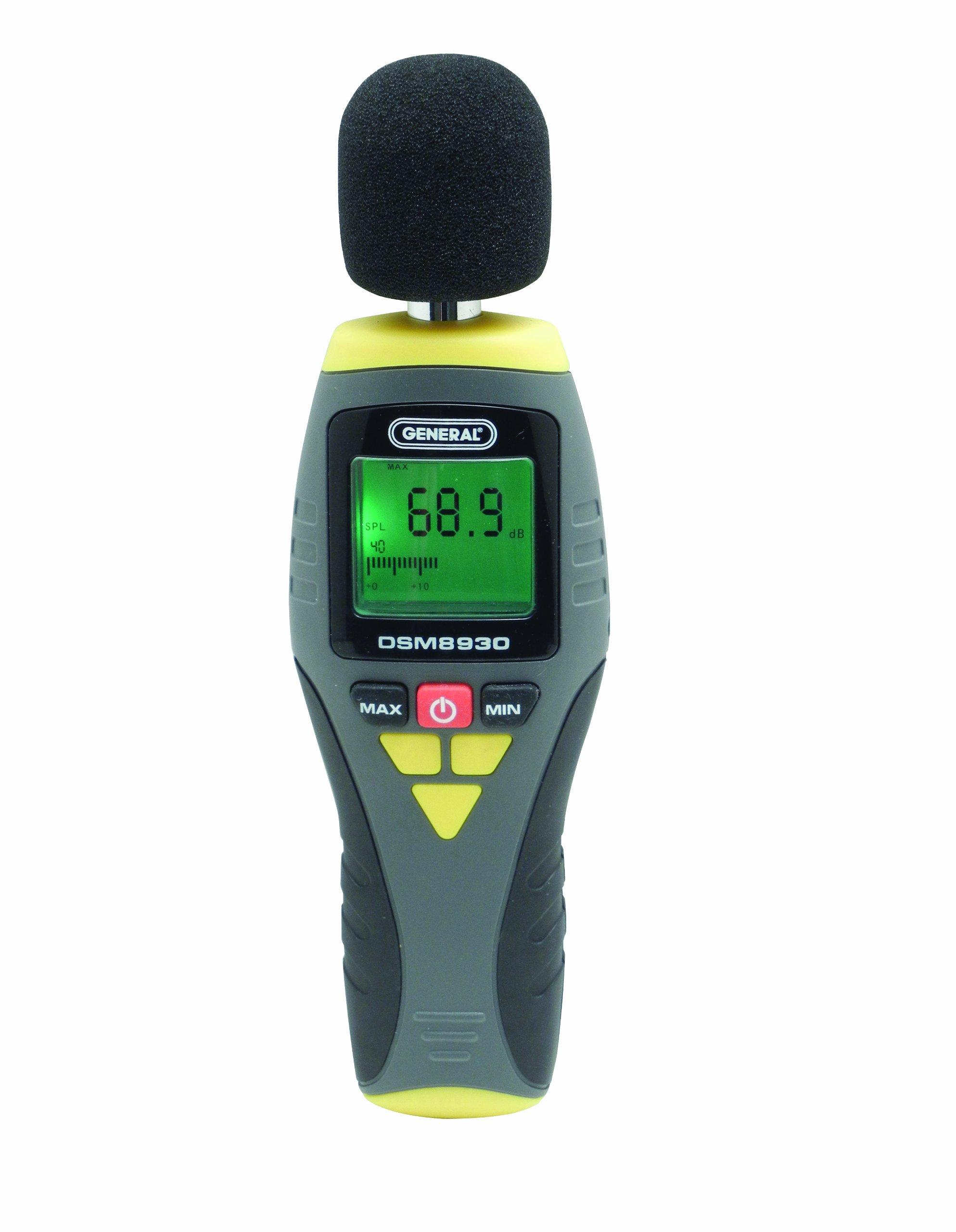 General Tools DSM8930 Digital Sound Level Meter, 100 Hz to 8.3 KHz