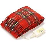 LIFEJOY 電気毛布 ひざ掛け 洗える 日本製 あったかブランケット かわいい 大判 160cm×82cm レッド JBH161-R