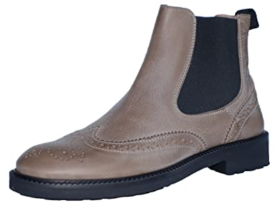 new style f9e26 4334f Gallucci 5078B Chelsea Boots Stiefeletten mit Budapester Muster, Unisex
