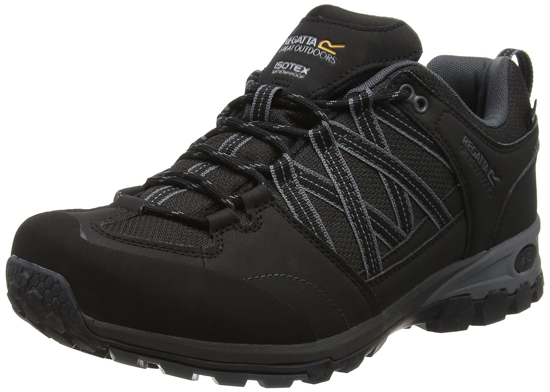 Regatta Samaris Low, Zapatillas de Senderismo para Hombre 43 EU|Negro (Black/Granit)