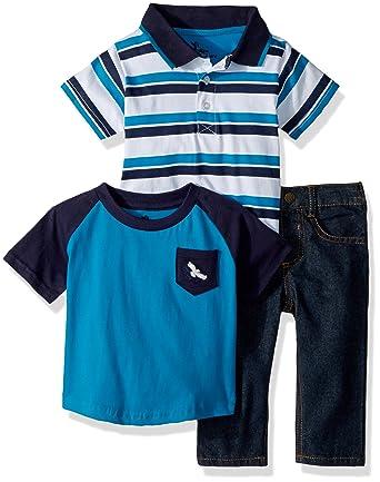 2a838796b Amazon.com  American Hawk Baby Boys Polo