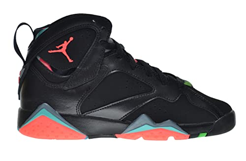 Jordan Air 7 Retro 30TH Anniversary BG Big Kids Shoes BlackInfrared-Blue  Graphite