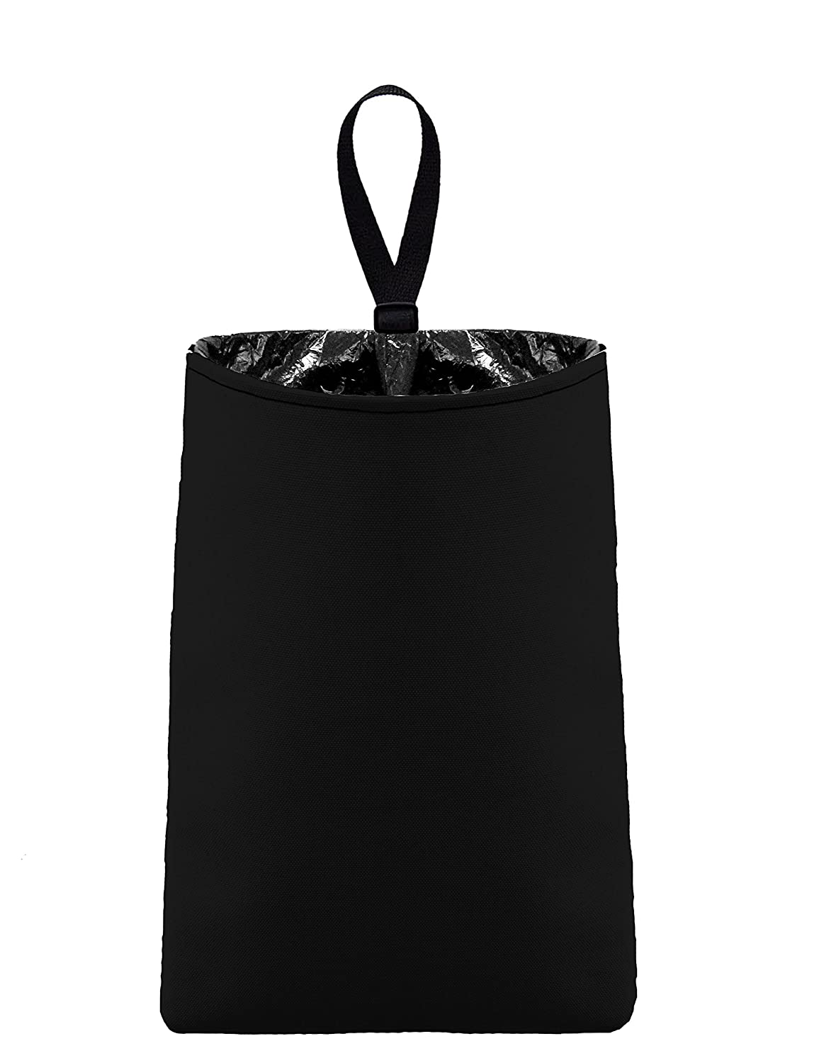 The Mod Mobile Car Trash Can Auto Trash Bag (Black) Slim Design Conceals Plastic Bag - Car Trash Bag Accessory