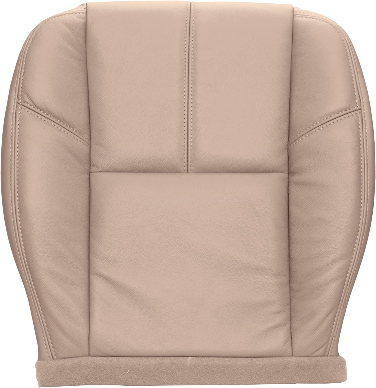 09 Silverado Tahoe Suburban OEM cloth seat cover drivers back Lt Cashmere
