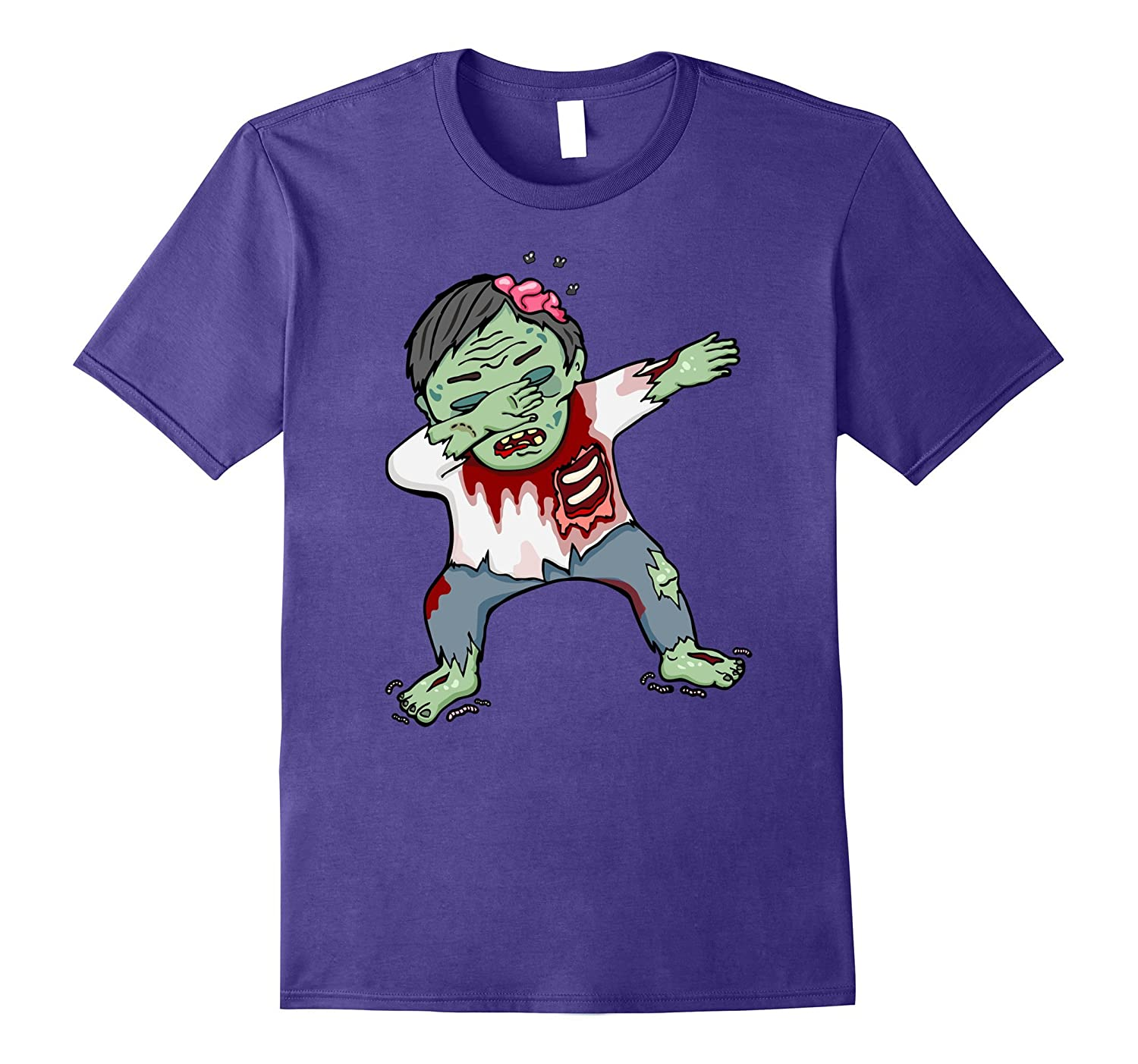 Creepy Dabbing Zombie Halloween Costume Color Shirt-Art