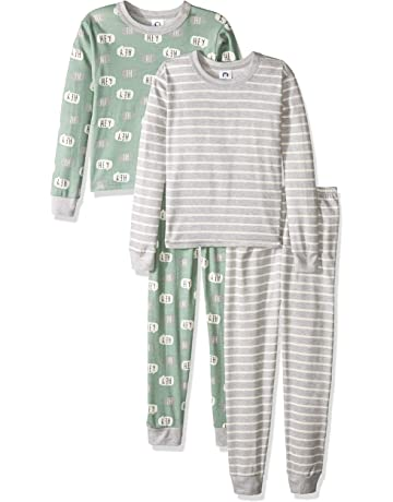 0440568d2 Gerber Boys' Toddler Organic 2 Pack 2-Piece Cotton Pjs