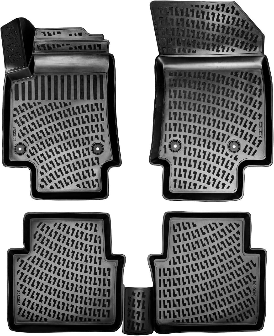 Rizline 3d Gummimatten Auto Matten Fussmatten Kompatibel Mit Vw Passat B8 Ab 2014 Passgenaue Mit Hohem Rand C A 5 Cm Auto