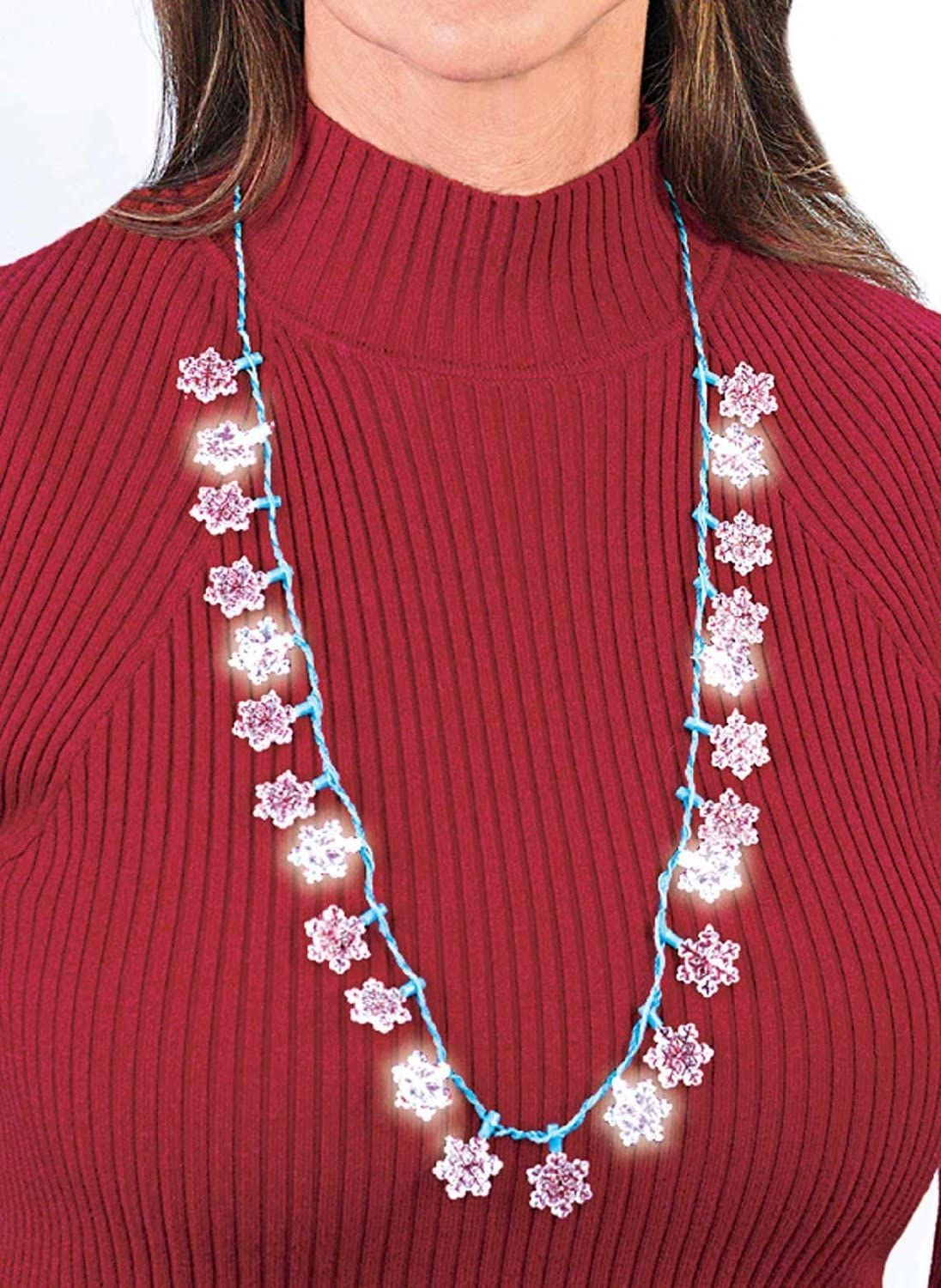 Christmas Accessory Snowflake Light-Up Necklace