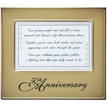 Amazon.com - Jubilee Celebrations 50th Anniversary Frame with Toast ...