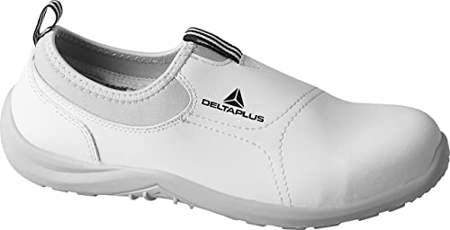 Delta plus Miami S2 Blanco Microfibra Slip On Steel Toe Seguridad Entrenadores