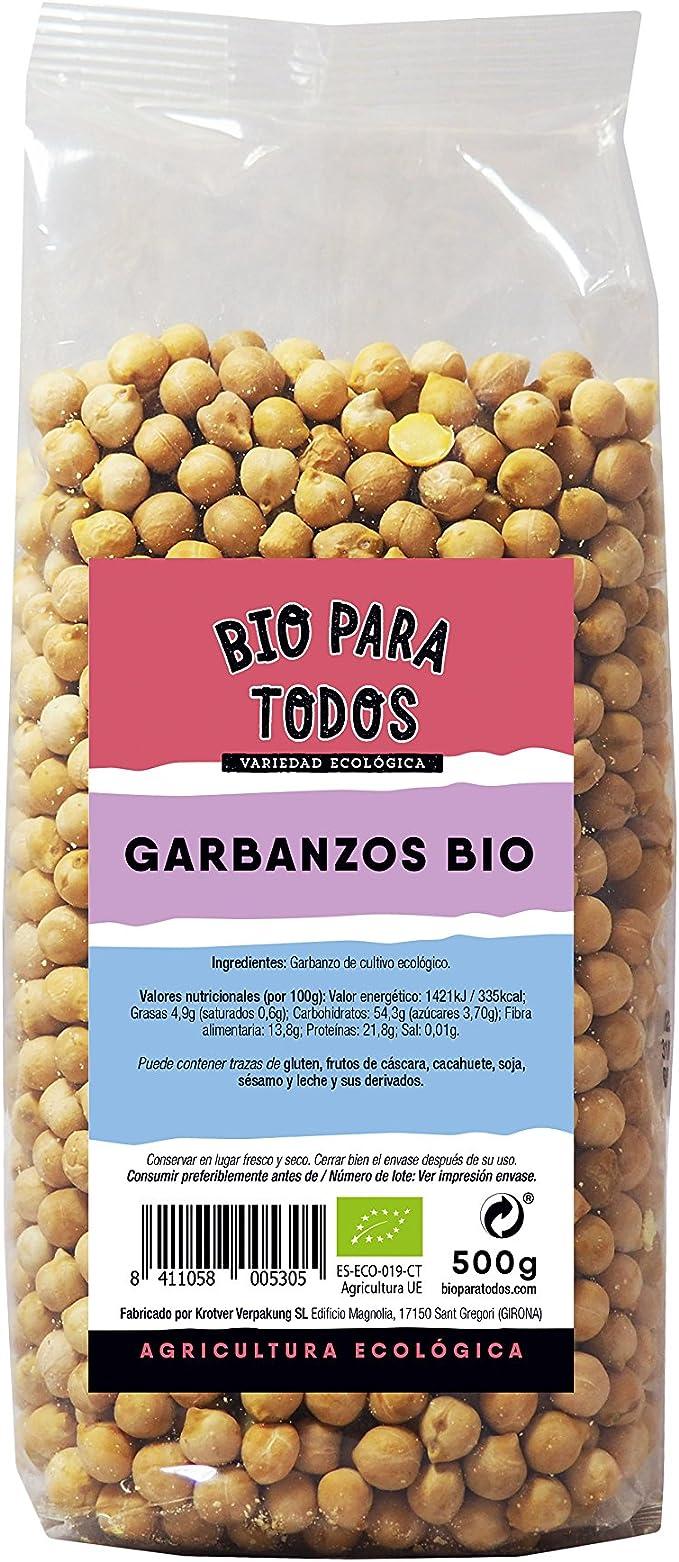 Bio para todos Garbanzos - 10 Paquetes de 500 gr - Total ...