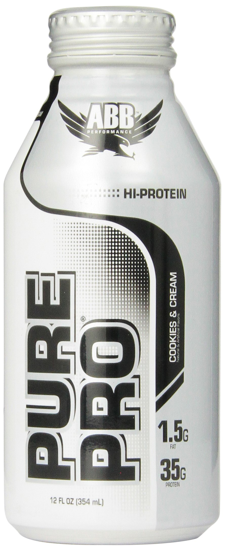 American Body Building Pure Pro 35, Cookies & Cream, 12-Ounce Bottles (Pack of 12)