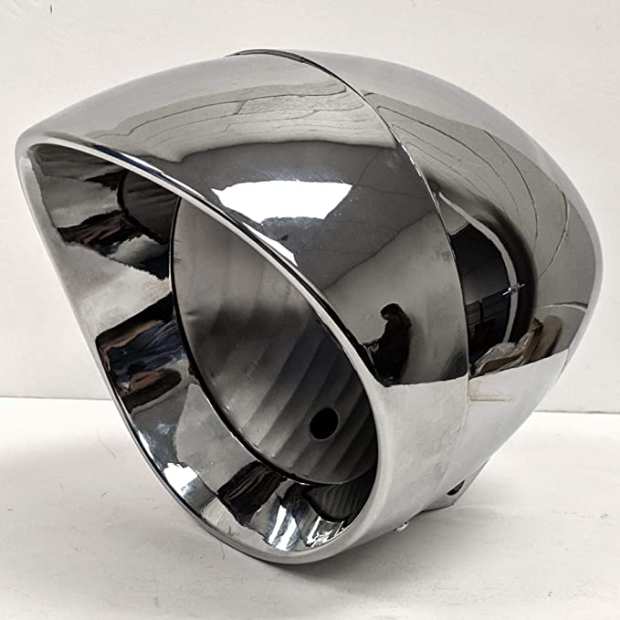 Krator 7 Chrome Motorcycle Headlight Housing Shell