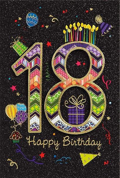18º cumpleaños tarjeta de felicitación tarjeta de cumpleaños ...