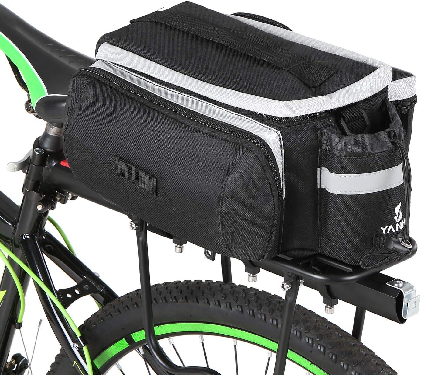 Lixada Bolsa de Asiento Trasero para Bicicleta Multifuncional ...