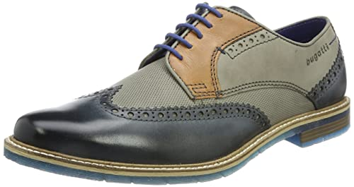 Mens 312259041111 Derbys, Blau (Dark Blue/Grey) Bugatti