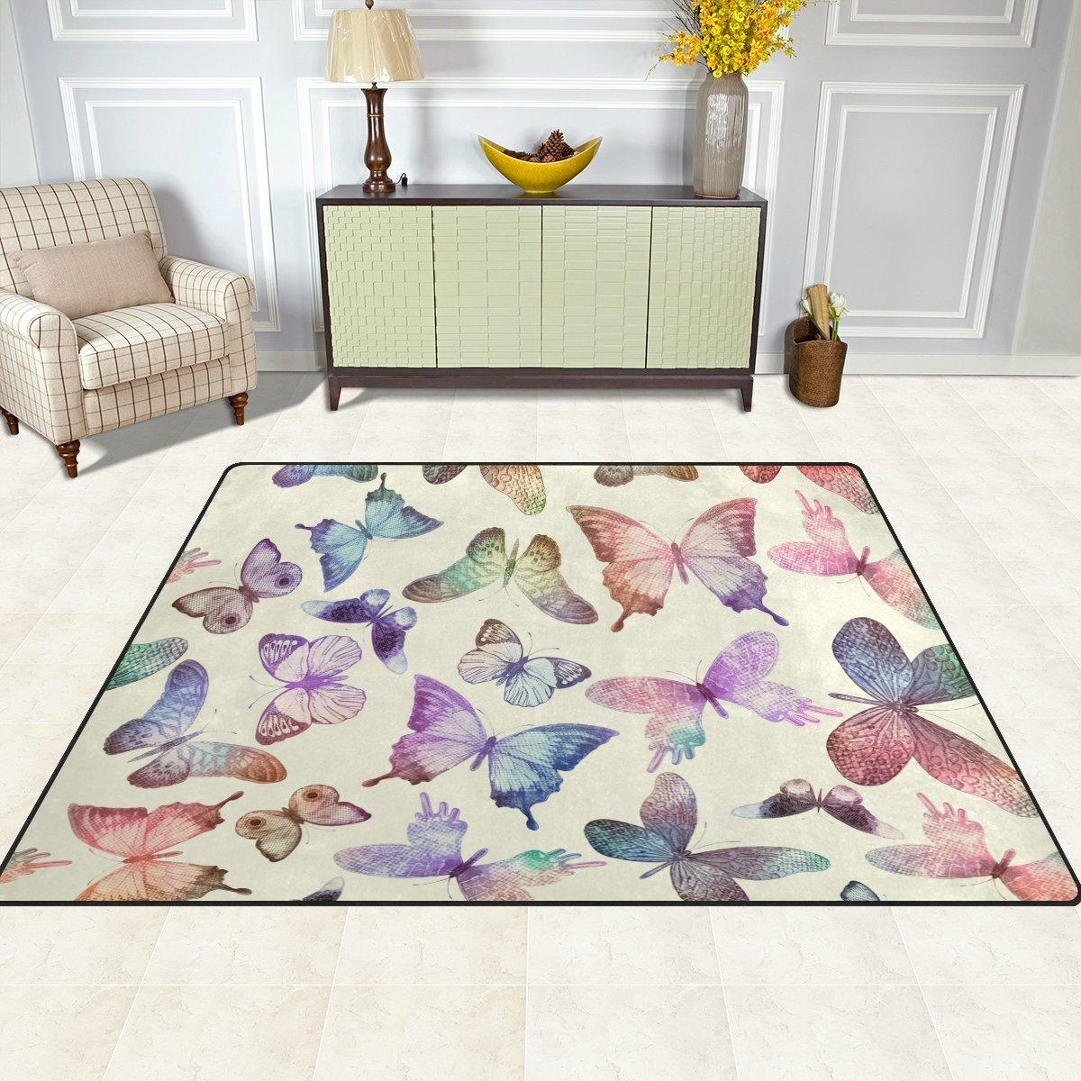 Amazon.com: Top Carpenter volando mariposas área alfombra ...