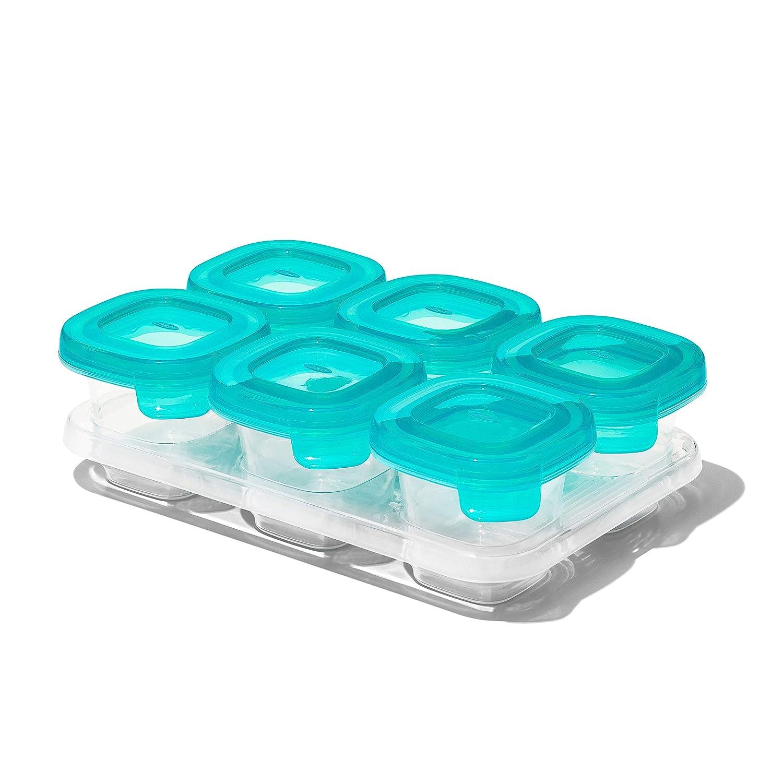 OXO Silicone Baby Blocks- 2oz, Teal, 2 oz