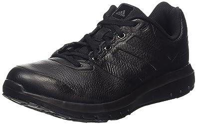 adidas Duramo Trainer Leather, Herren Laufschuhe, Schwarz (Core Black/Core  Black/