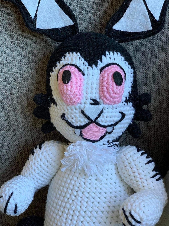 Handmade Bunnicula crocheted Bunnicula stuffed bunny Bunnicula plushie