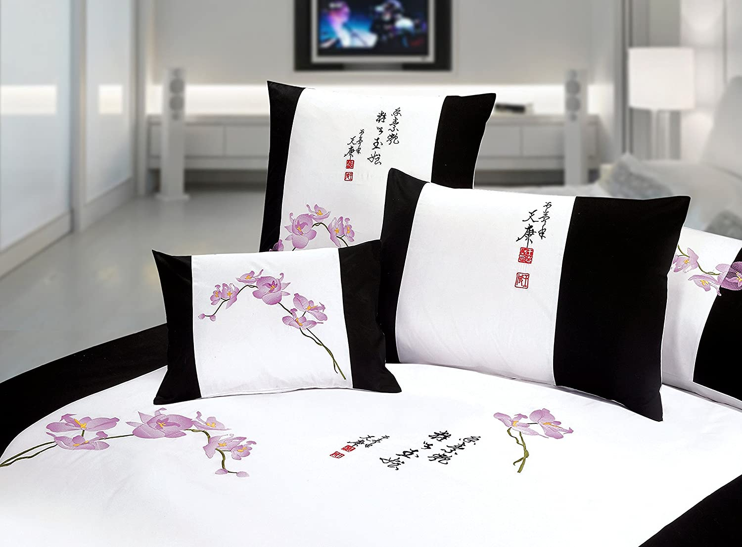 Black and White Full Queen Duvet Cover 3pcs Bedding Set
