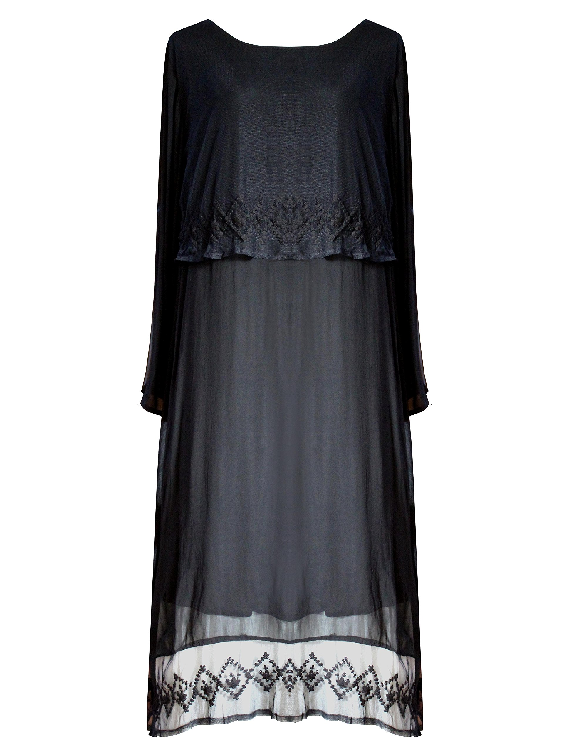 Funhouse Victorian Valentine Gothic Steampunk Juliet Renaissance Dress Black L XL 1X 3