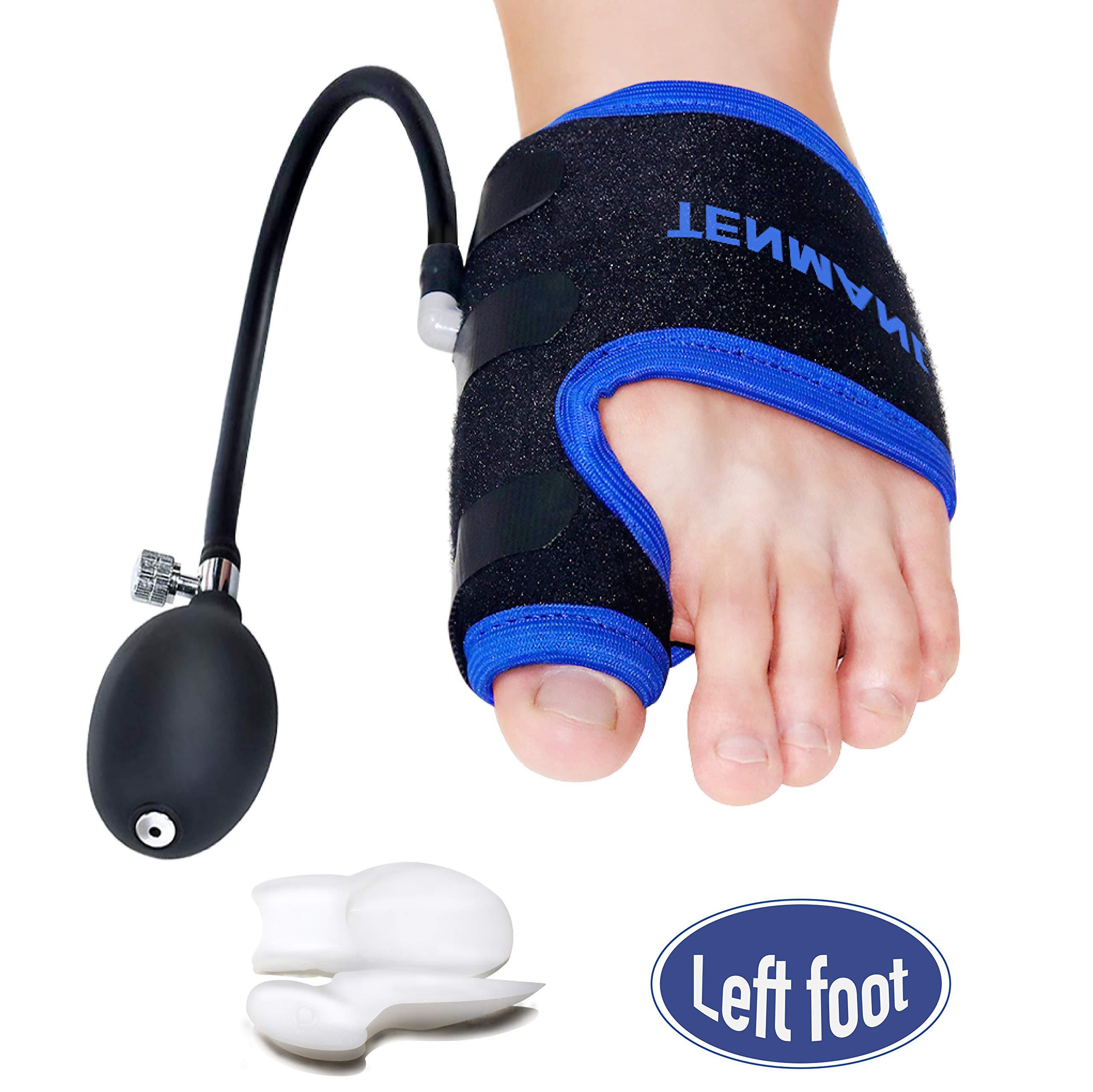 TENMAND Bunion Corrector and Toe Straightener & Adjustable Orthopedic Pneumatic Bunion Splints Relief Hallux Valgus Bunion Pain with Splint Aid Treatment for Women and Men (Left Foot)