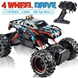 Remote Control Truck, RC Car 1: 12 Scale RC Truck 2.4Ghz Radio Remote Control Car RC Monster Vehicle Truck Crawler 4WD…