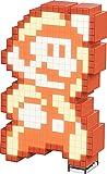 PDP Pixel Pals Nintendo Super Mario Bros Fire Mario Collectible Lighted Figure, 878-032-NA-FIREMAR