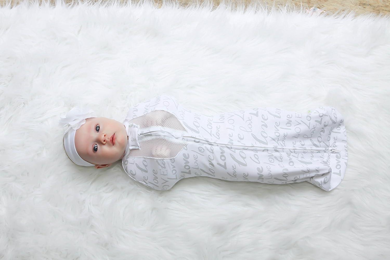 Woombie Air BB Love Blanket Gray//White 14-19 Pound