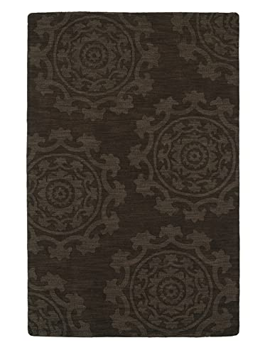 Kaleen Rugs Imprints Classic Hand-Tufted Area Rug, Chocolate, 5 x 8