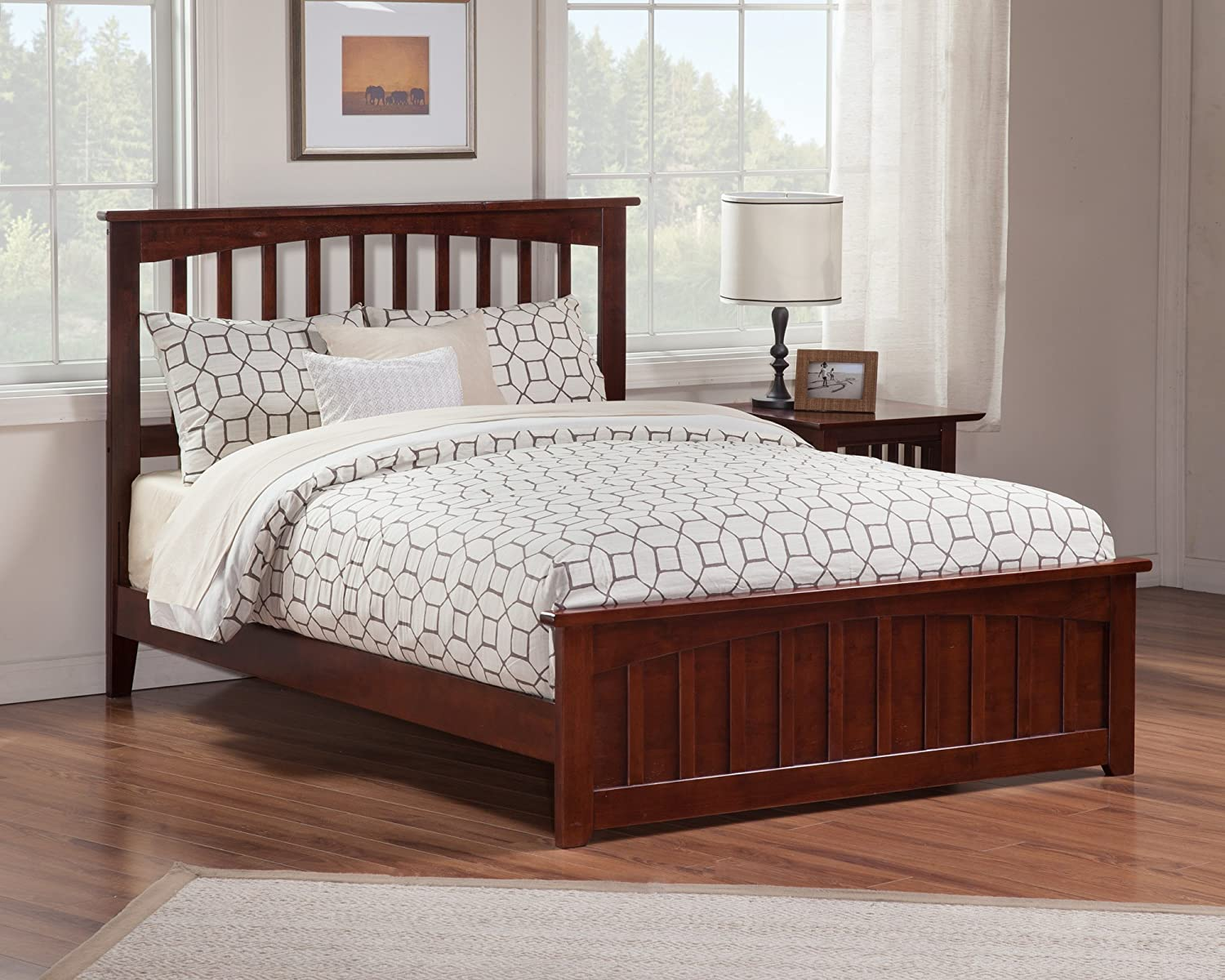 Amazon Atlantic Furniture Mission Bed With Matching Foot Board