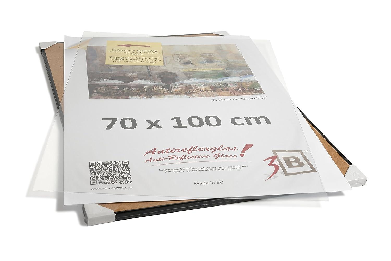 Amazon.de: 3-B Alu Poster Brushed - Großer Bilderrahmen - mit ...