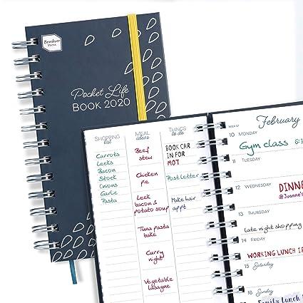 Boxclever Press Pocket Life Book agenda 2020. Agenda 2020 semana vista comienza ahora y se extiende hasta diciembre 2020. Planificador semanal, Tamaño ...