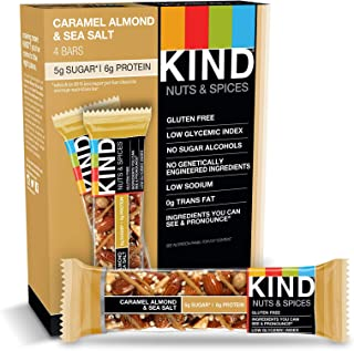 product image for KIND Bars, Caramel Almond & Sea Salt, Gluten Free, Low Sugar, 1.4oz, 4 Count