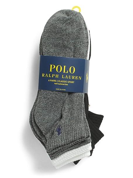 Polo Ralph Lauren - Paquete de 6 calcetines - Talla única (UK 6 a ...