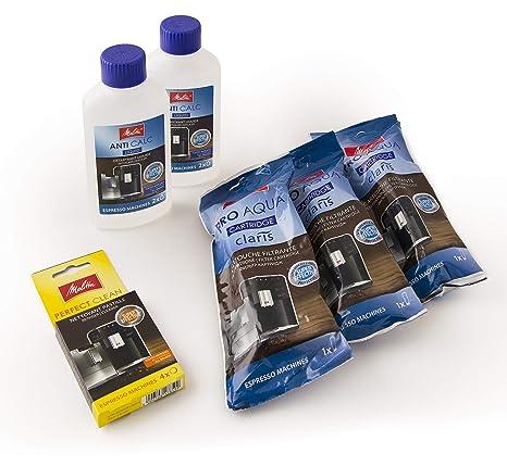 Juego de mantenimiento para máquinas de café/filtros de agua/descalcificador de líquidos/