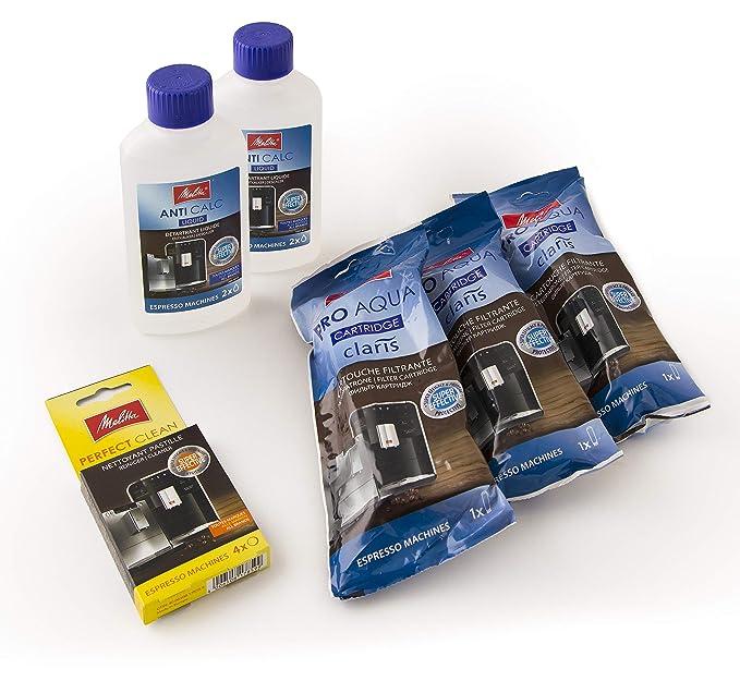 Juego de mantenimiento para máquinas de café/filtros de agua/descalcificador de líquidos/tabletas de limpieza/Anticalc 6757343 de Melitta, 6 kg: Amazon.es: ...