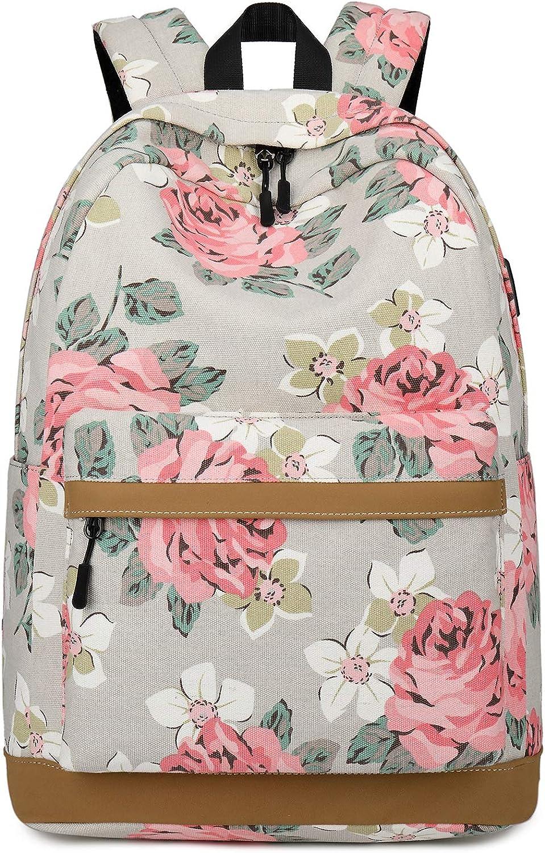 Forestfish College Backpack Backpack Floral Bookbag Bag Travel Daypack Backpack Bags