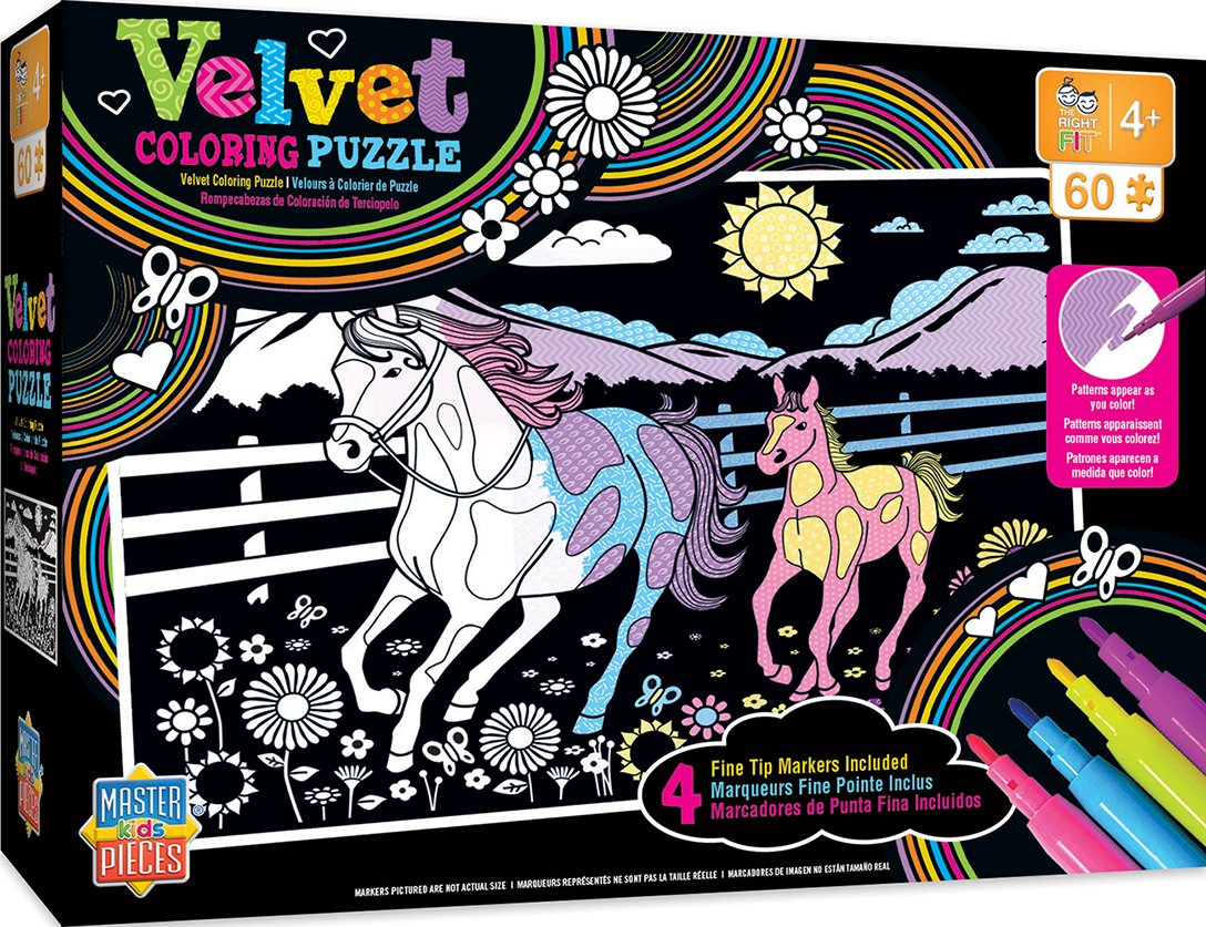 Amazon.com: MasterPieces Velvet Coloring of Horse and Pony - 60 ...