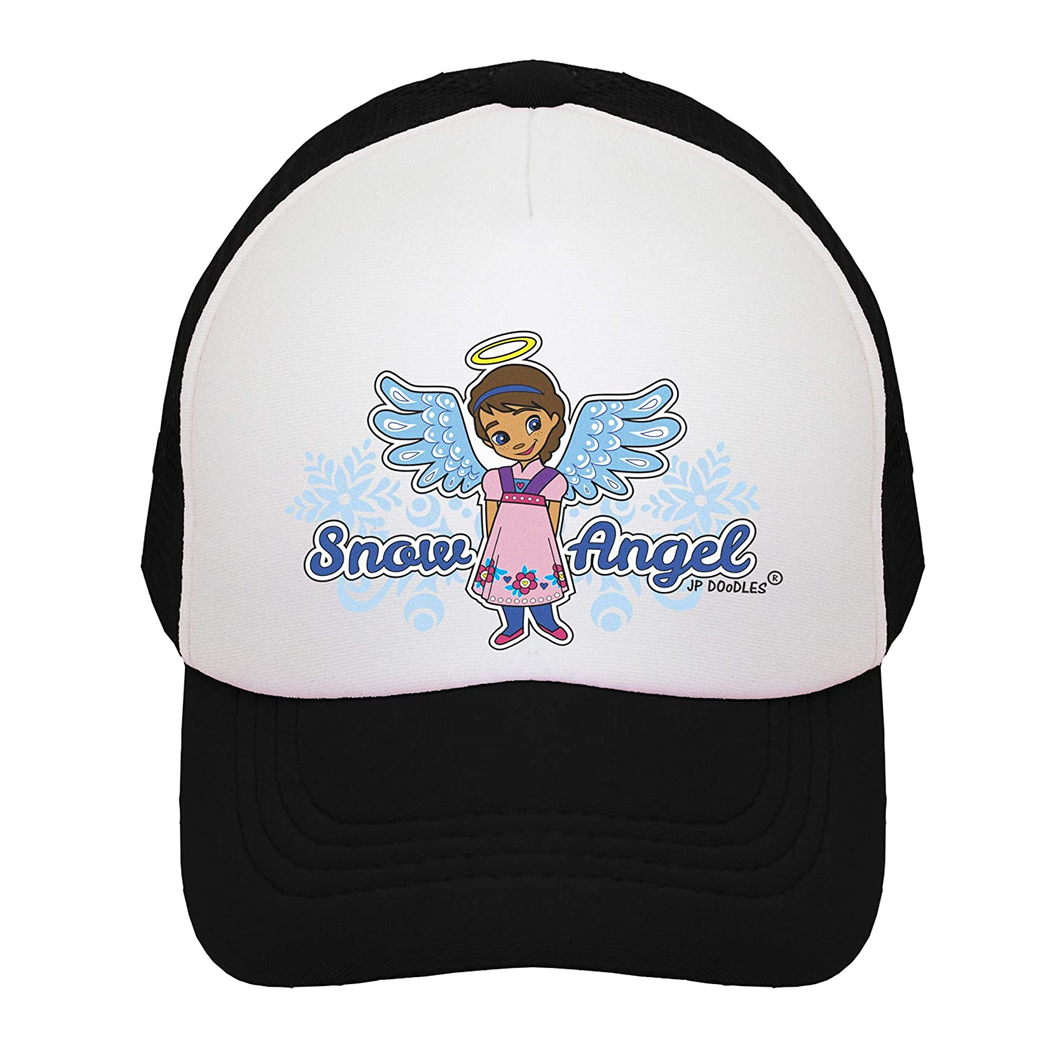Toddler JP DOoDLES Snow Angel on Kids Trucker Hat and Youth Sizes The Kids Baseball Cap is Available in Baby