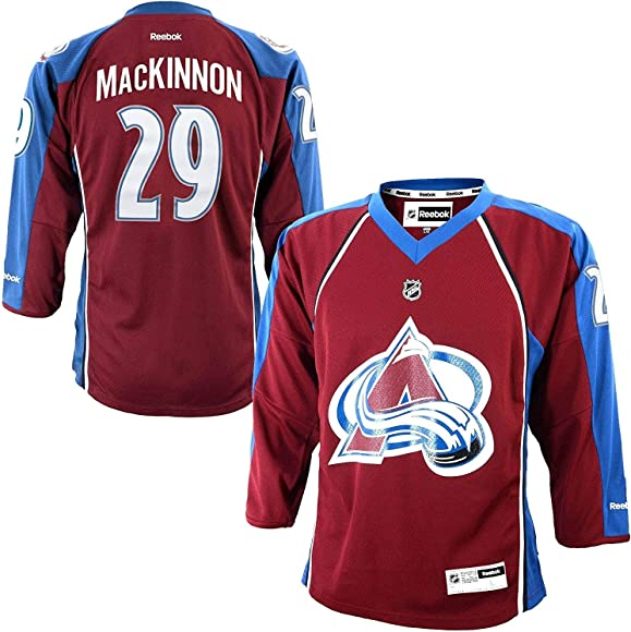 official photos 55896 64081 Nathan MacKinnon Colorado Avalanche Burgundy NHL Youth Reebok Home Replica  Jersey