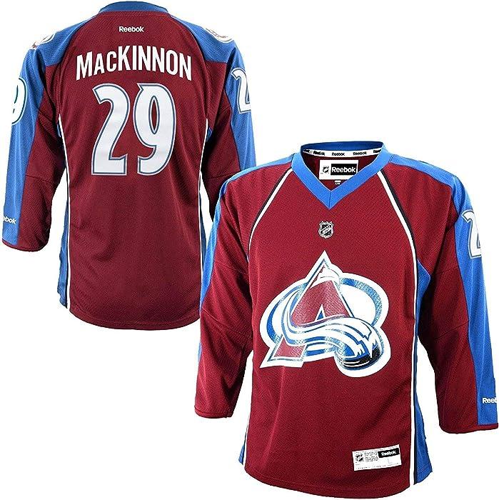 734d9b924c6d Nathan MacKinnon Colorado Avalanche Burgundy NHL Youth Reebok Home Replica  Jersey (Youth Small Medium