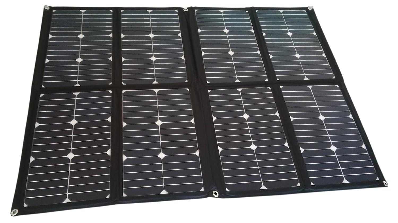 SUNPOWER Solarzellen-bewegliches Solarpanel 144W 12V faltender Solaraufladungs-Installationssatz für Wohnmobil, Wohnwagen, Boot oder 12V Sonnensystem (Schwarz)
