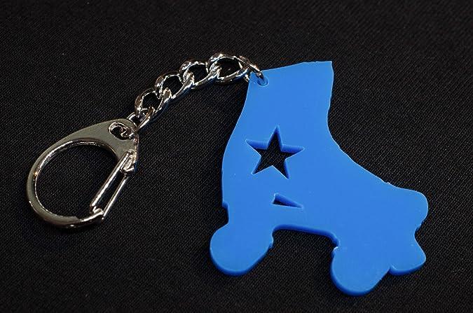 Miniblings Llavero patín de Ruedas en línea Azul Patines ...