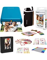 $161 » Polaroid Zip Wireless Mobile Photo Mini Printer (Blue) Compatible w/iOS & Android, NFC & Bluetooth Devices with Accessories Bundle