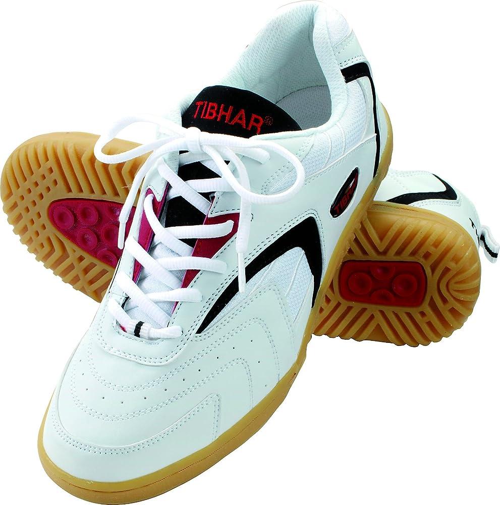 Tibhar - Zapatillas de Tenis de Mesa para Hombre, Color Blanco ...